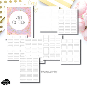 A5 Rings Size | Washi Collection Printable Insert ©