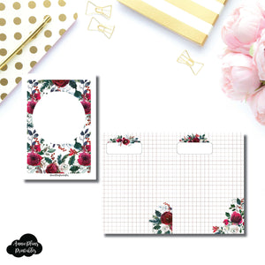 A6 TN Size | Holiday Floral Grid Printable Insert ©