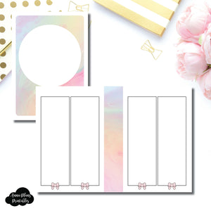 A6 TN Size | SimplyGilded Collaboration Vertical Week on 4 Page Printable Insert ©