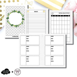 A6 Rings Size | Plant Care - Fox & Pip Collaboration Printable Insert ©