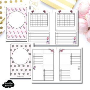 A6 Rings Size | Spot Drop Birthday Bundle Collaboration Printable Inserts ©