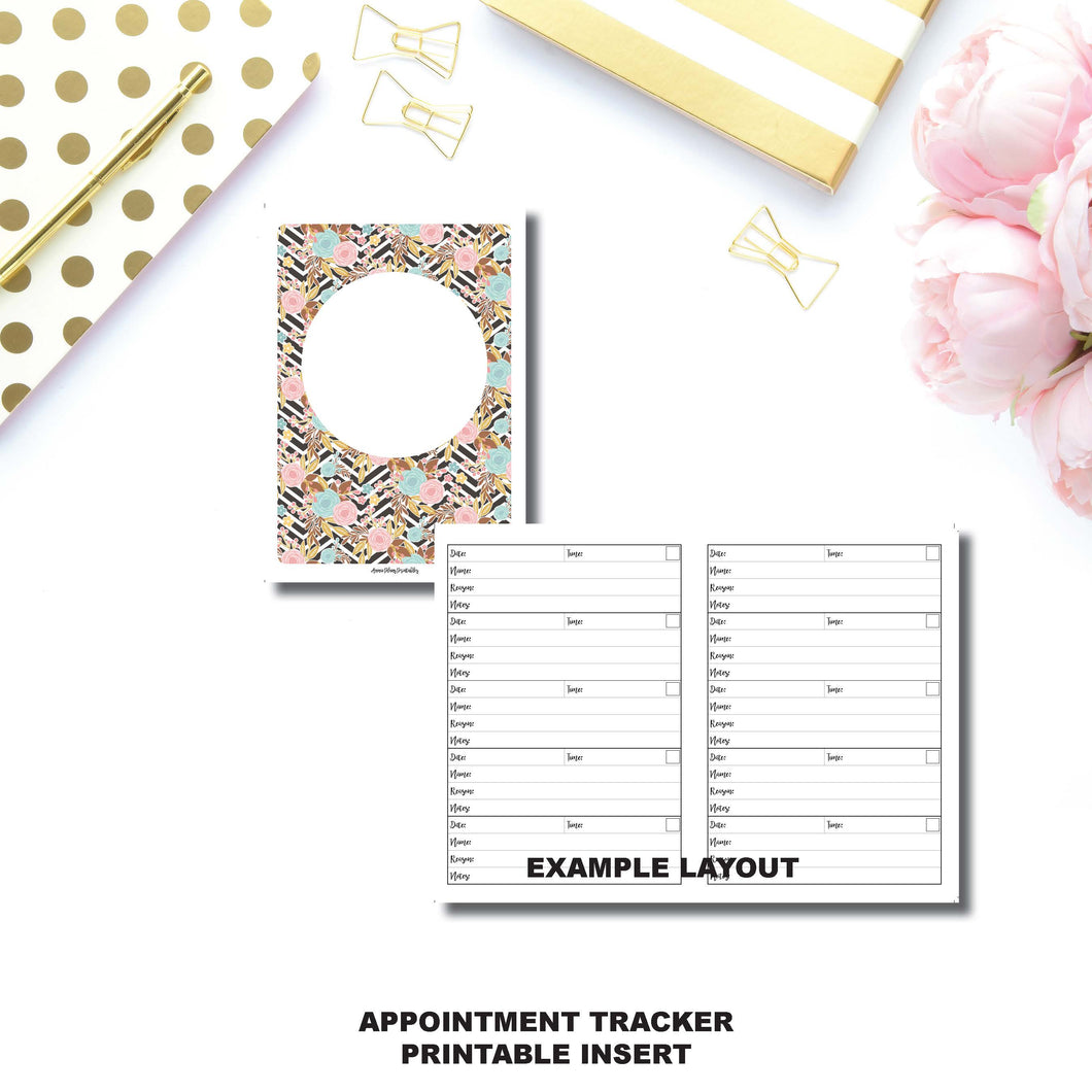 A6 Rings Size | Appointment Tracker Printable Insert ©