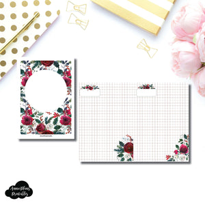 B6 TN Size | Holiday Floral Grid Printable Insert ©