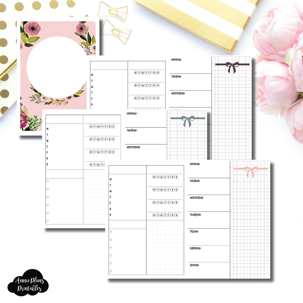 B6 TN Size | Undated Week on 2 Page Layout Printable Insert ©