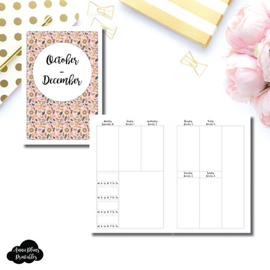 A5 RINGS Size | OCT - DEC 2019 | BASIC Vertical Week on 2 Page (Monday Start) With Trackers Printable Insert ©