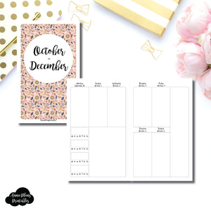 Half Letter Rings Size | OCT - DEC 2019 | BASIC Vertical Week on 2 Page (Monday Start) With Trackers Printable Insert ©