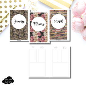 Mini HP Size | JAN - MAR 2020 Basic Vertical Week on 4 Page (Monday Start) Layout Printable Insert ©