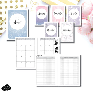 A6 Rings Size | CLASSIC JUL - DEC 2020 Monthly Calendar + Tracker Printable Insert