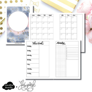 Pocket Plus Rings Size | JeshyPark Undated Daily Collaboration Printable Insert ©