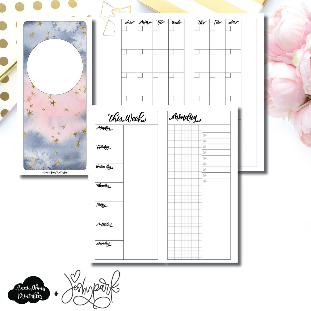 H Weeks Size | JeshyPark Undated Daily Collaboration Printable Insert ©