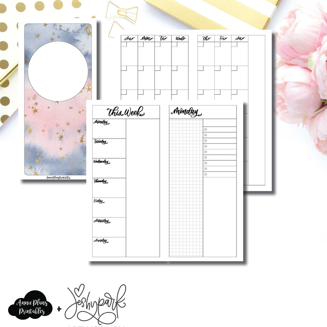 HWeeks Wide Size | JeshyPark Undated Daily Collaboration Printable Insert ©