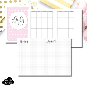 A5 Rings Size | SeeAmyDraw Undated Daily Grid Collaboration Printable Insert ©