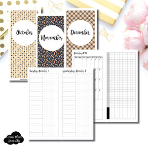 H Weeks Size | 2019 OCT - DEC | FULL Month Daily UNTIMED | Printable Insert ©