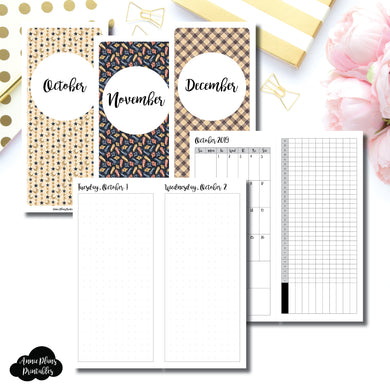 H Weeks Size | 2019 OCT - DEC | FULL Month Daily (DOT GRID) | Printable Insert ©