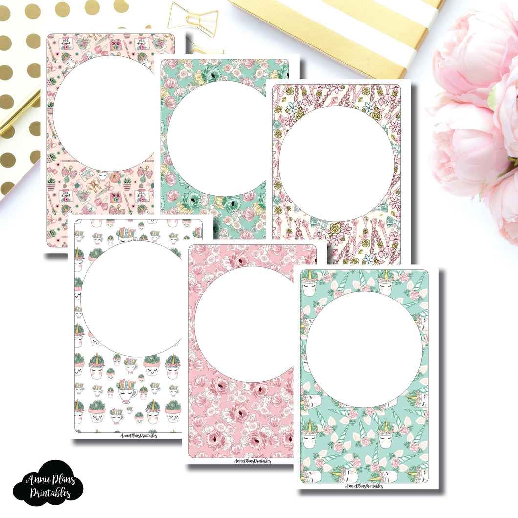 Half Letter Rings Size | Blank Printable Covers for Inserts ©