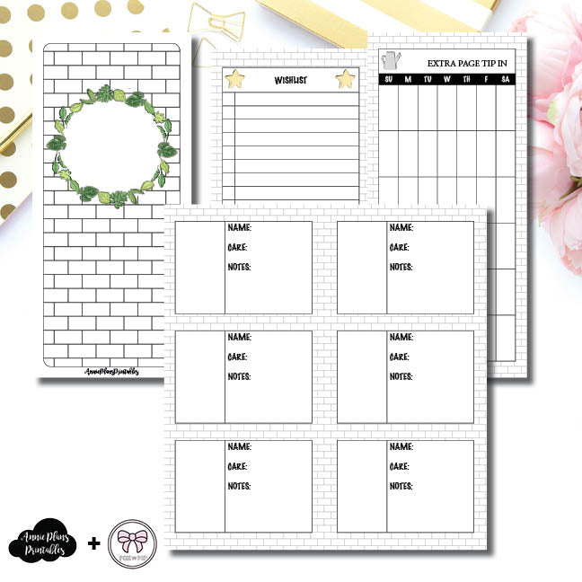 H Weeks Size | Plant Care - Fox & Pip Collaboration Printable Insert ©