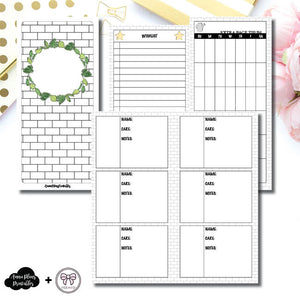 HWeeks Wide Size | Plant Care - Fox & Pip Collaboration Printable Insert ©