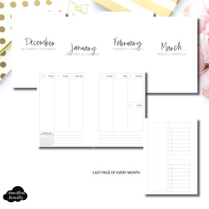 Pocket Plus Rings Size | Q1 JAN - MAR 2020 Weekly Vertical Printable Insert