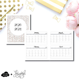 A5 Wide RIngs Size | 2020 - 2021 4 Months on 2 Pages Jeshy Park Collaboration Printable Insert ©