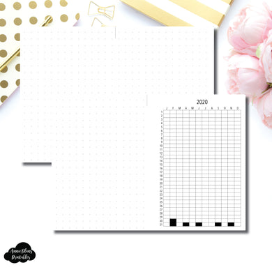 FREEBIE A5 Rings Size | 2020 Life in Pixels Printable