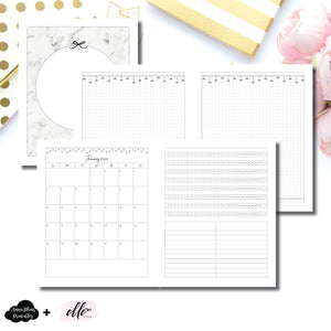 A5 Wide Rings Size | 12 Month (JAN 2020 - DEC 2020) + Tracker EllePlan Collaboration Printable Insert ©