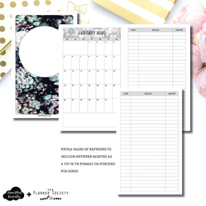 Cahier TN Size | LIMITED EDITION: NOV TPS Dated Monthly Expense Collaboration Printable Insert ©
