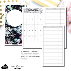 Standard TN Size | LIMITED EDITION: NOV TPS Dated Monthly Expense Collaboration Printable Insert ©