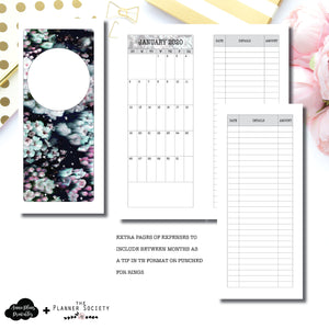 Half Page HP Size | LIMITED EDITION: NOV TPS Dated Monthly Expense Collaboration Printable Insert ©
