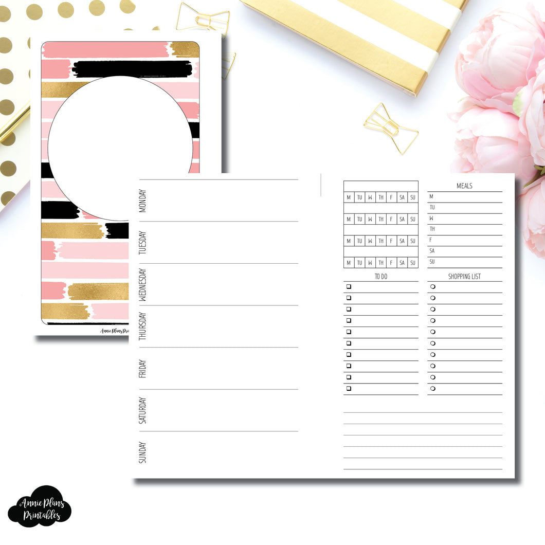 FC Rings Size | Undated Week on 2 Page with Trackers Printable Insert ©