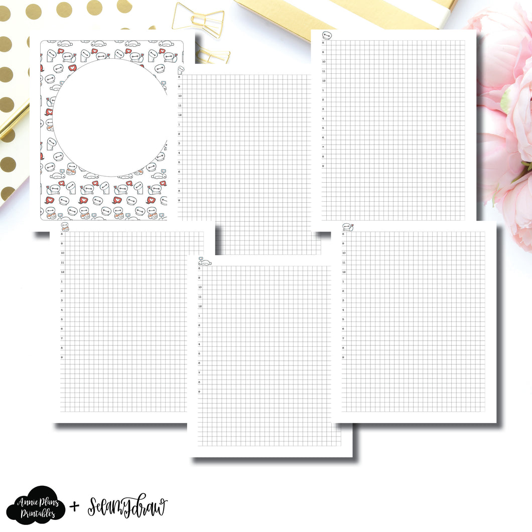 A5 Wide Rings Size | SeeAmyDraw Timed Daily Grid Collab Printable Insert