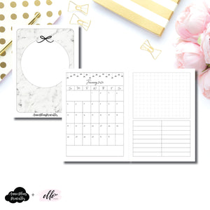 Passport TN Size | 12 Month (JAN 2020 - DEC 2020) EllePlan Collaboration Printable Insert ©