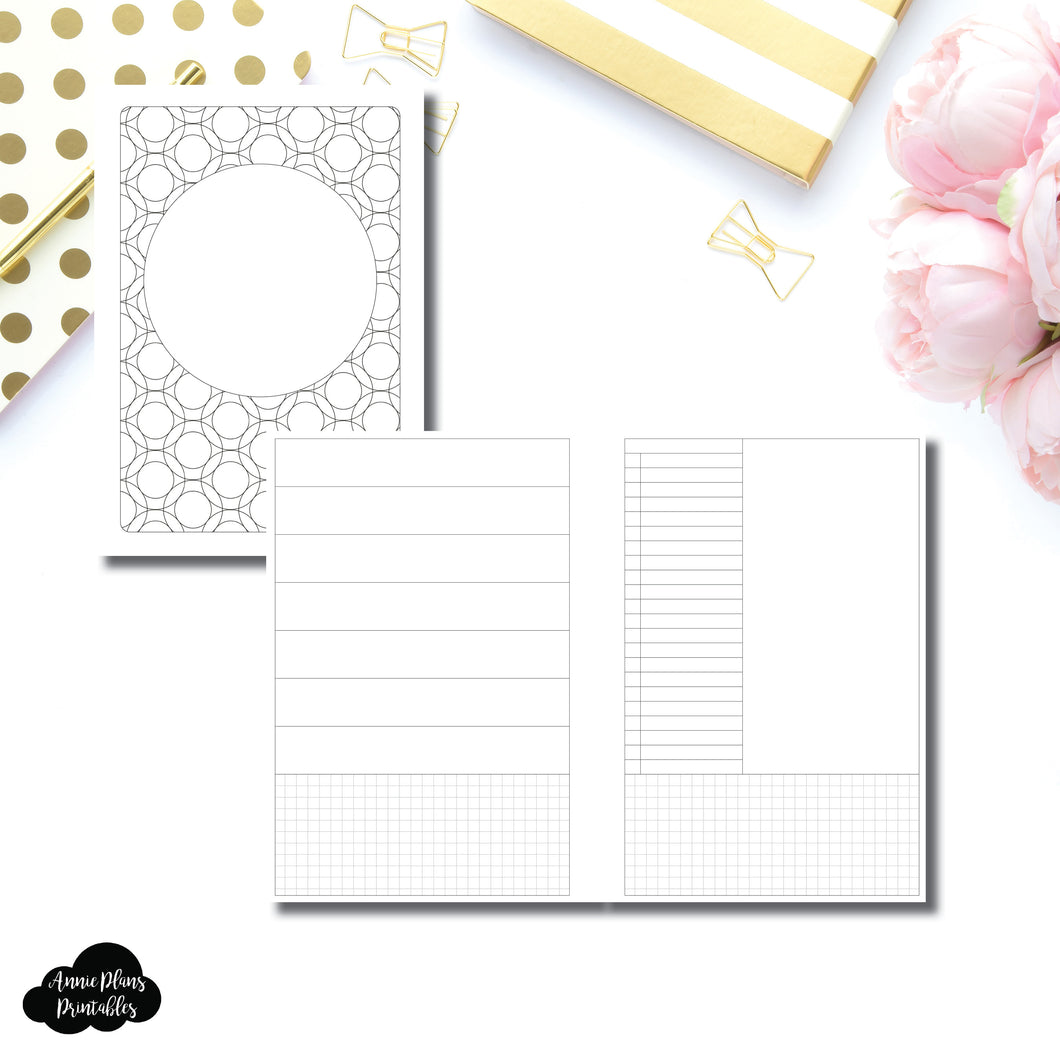 A5 Rings Size | HWeeks Weekly Layout Printable Insert ©