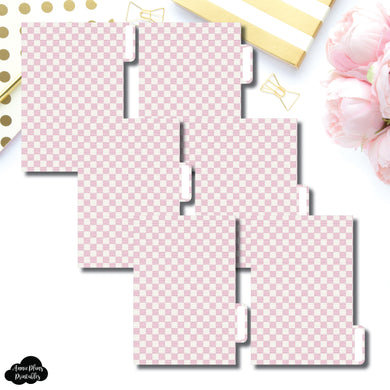 Pocket Ring Dividers | Luxe Pink 6 Side Tab Printable Dividers