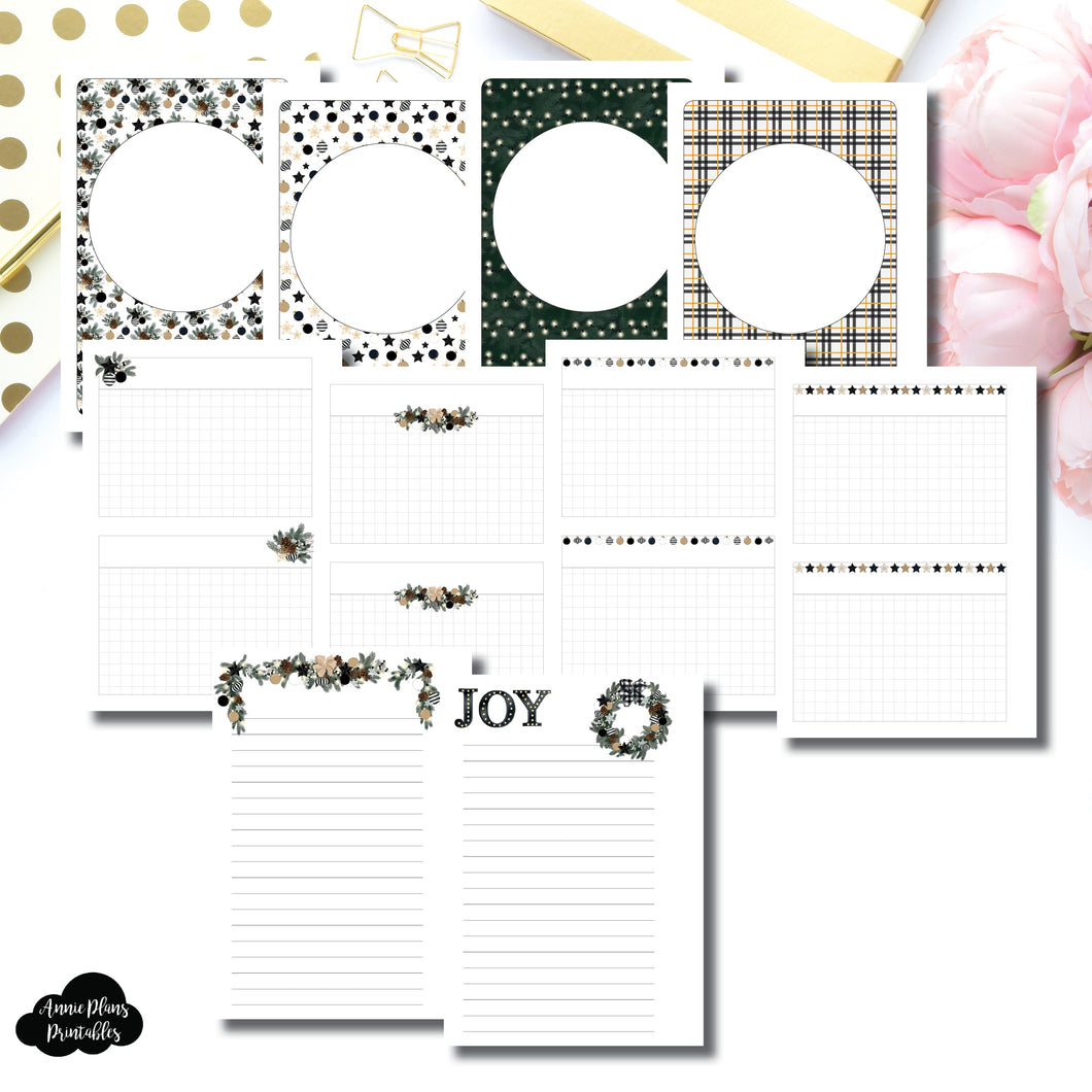 A6 Rings Size | HOLIDAY NOTES Printable Insert ©