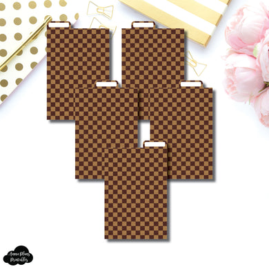 Pocket Ring Dividers | Luxe Brown 5 Top Tab Printable Dividers