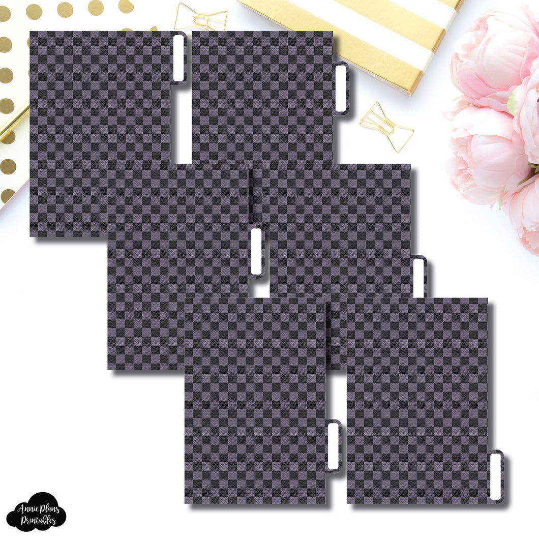 Pocket Ring Dividers | Luxe Black 6 Side Tab Printable Dividers