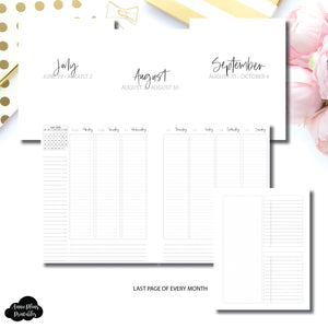 A5 Wide Rings Size | Q3 JUL - SEP 2020 LINED Weekly Vertical Printable Insert