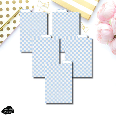 Pocket Ring Dividers | Luxe Blue 5 Top Tab Printable Dividers