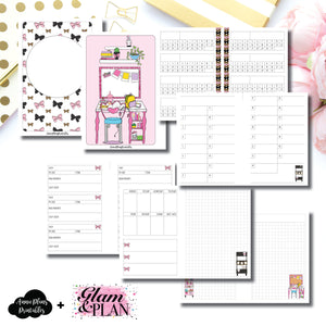 B6 Rings Size | PR Tracker Insert Collaboration Bundle with Glam & A Plan Printable Insert