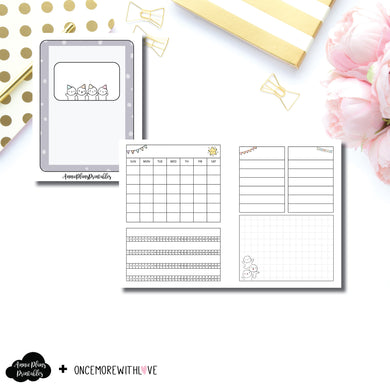 Micro HP Size | Undated Monthly OnceMoreWithLove Collaboration Printable Insert ©