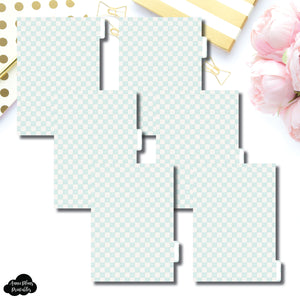 A5 Ring Dividers | Luxe Mint 6 Side Tab Printable Dividers