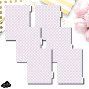 A5 Ring Dividers | Luxe Lilac 6 Side Tab Printable Dividers