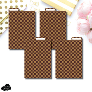 Pocket Plus Ring Dividers | Luxe Brown 4 Top Tab Printable Dividers