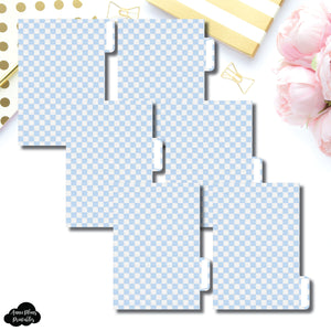 Pocket Ring Dividers | Luxe Blue 6 Side Tab Printable Dividers