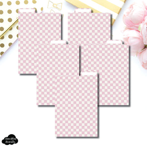 Pocket Plus Ring Dividers | Luxe Pink 5 Top Tab Printable Dividers