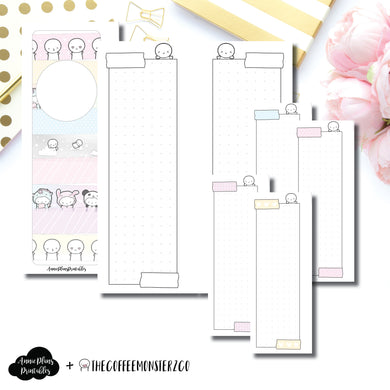 Skinny Mini HP Size | TheCoffeeMonsterzCo Washi Dot Grid Printable Insert ©