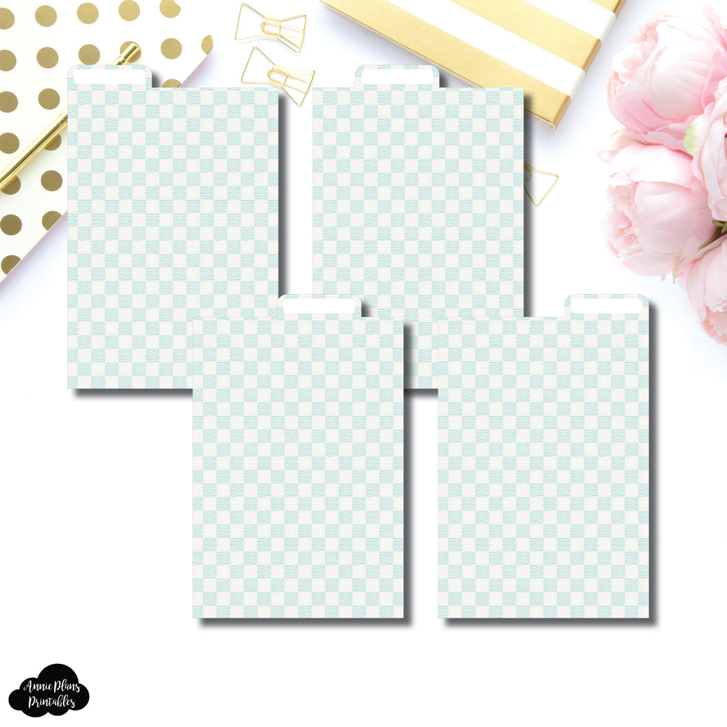 Pocket Plus Ring Dividers | Luxe Mint 4 Top Tab Printable Dividers