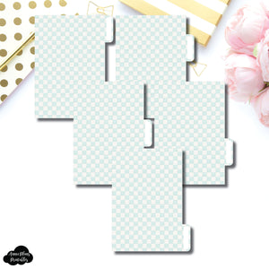 Pocket Ring Dividers | Luxe Mint 5 Side Tab Printable Dividers