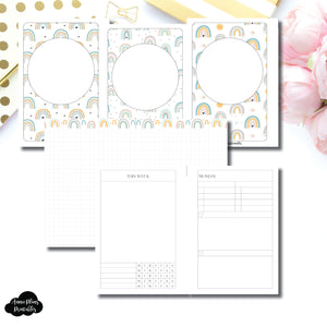 Pocket Plus Rings Size | Self Care Printable Insert