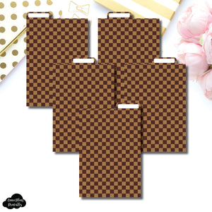 Pocket Plus Ring Dividers | Luxe Brown 5 Top Tab Printable Dividers
